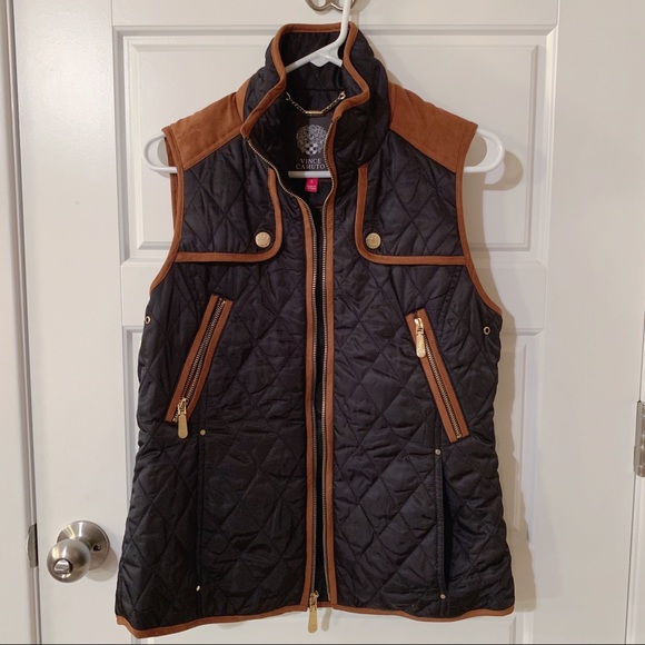Vince Camuto Jackets & Blazers - Vince Camuto Quilted Vest Navy & Brown